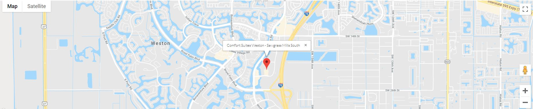 Comfort Suites Weston - Sawgrass Mills South Map